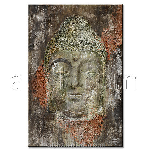 Original Handmade Buddha Painting on Canvas