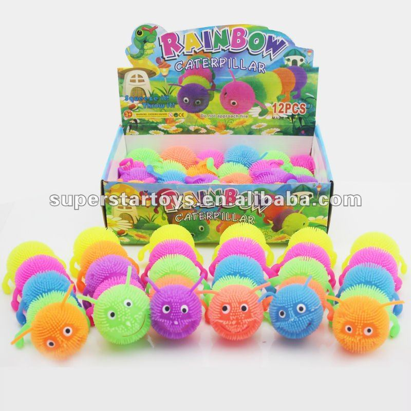 aliexpress cute worm puffer toy,animal puffer ball jumbo puffer ball-PD002-012