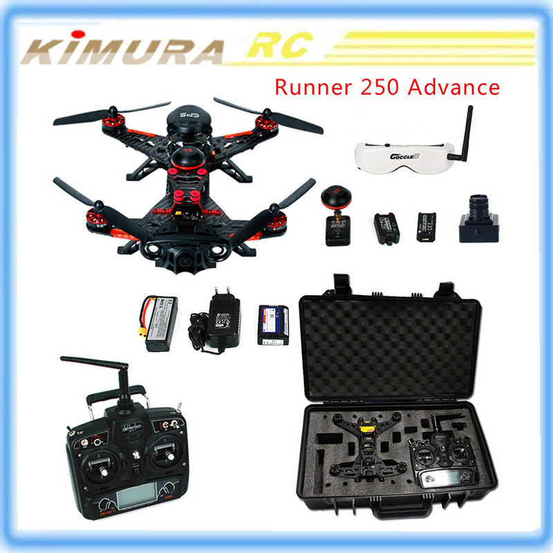 Original Walkera Runner 250 Advance GPS Racing Drone with Goggle V2 /1080P Camera/DEVO7/OSD FPV RTF quadcopter 250 rc helicopter