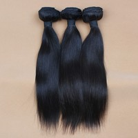 wholesale briliant 16' natural color straight brazilian Virgin Machine made hair extension