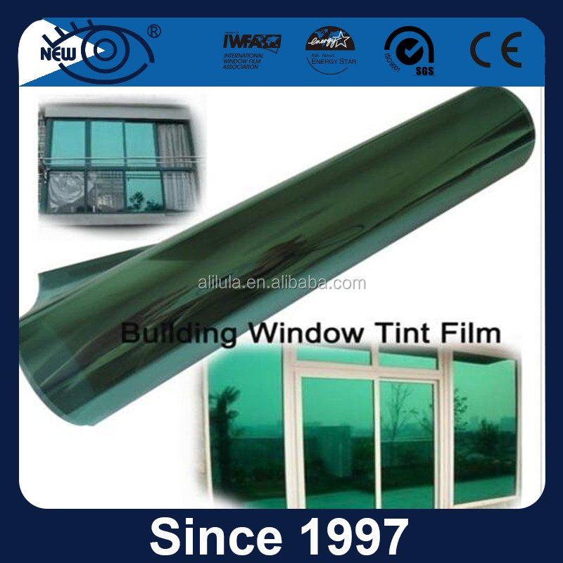 Anti scratch high heat resistance solar control one way vision building film