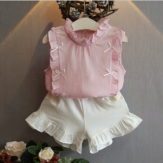 2016 fashion kids clothes girls clothing sets wholesale children's boutique clothing