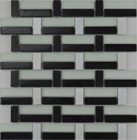MBW4032 Factory Price Black and White Glass Decorative Mosaic