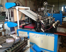 used high speed PE plastic T-shirt bag making machine