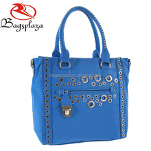 HD28-017 Western stylish blue fashion woman PU leather handbags ladies 2016
