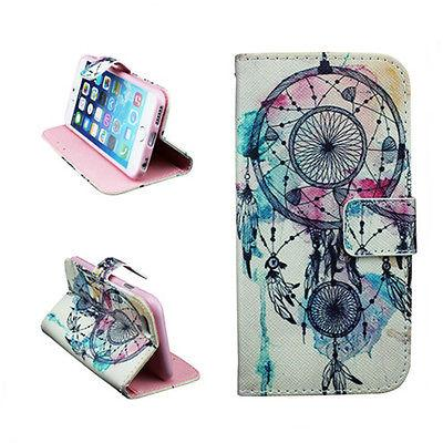 PU Leather Flip Magnetic Card Dream Catcher Case Cover For iphone 4 4s