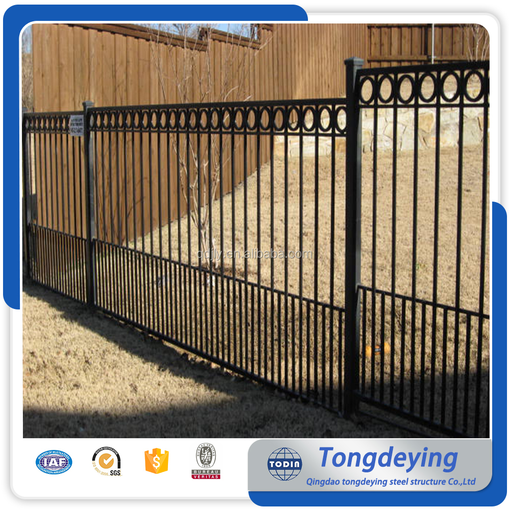 Residental new house baluster design terrace wrought iron fence for sale iron fencing