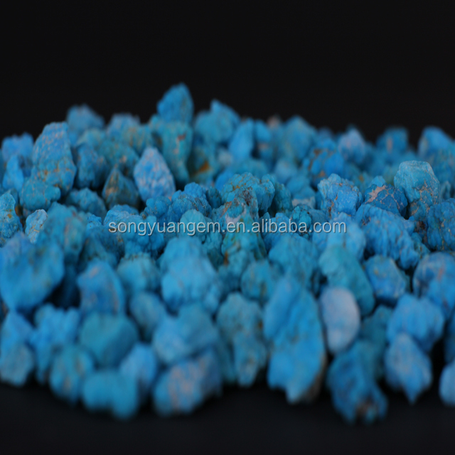 Natural blue stone turquoise rough stone wholesale