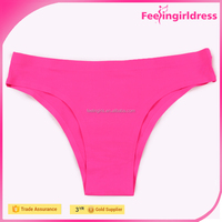 Classical Ladies Rose Red Thong Cut Bottom Wholesale Women Underwear