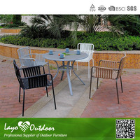 5PCS Round Table and Chair Set Rattan Dining Set Wicker Rattan Dining Table and Chair Rattan Furniture