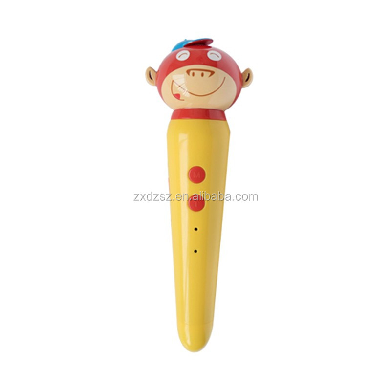 OEM Language learning machine for kid Customized point reading talking pen for children cartoon design