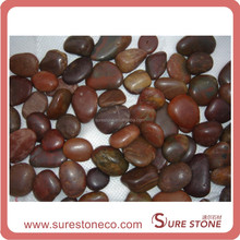 nice and cheap River polished Colored pebble stone landscaping edging stones