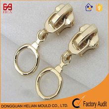 Product Type Fancy Auto-Lock Fashion Puller Plating Gold Metal Slider