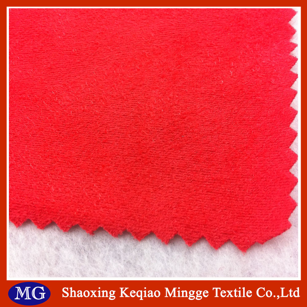 Shaoxing Mingge 90% polyester, 10% elastane suede fabric