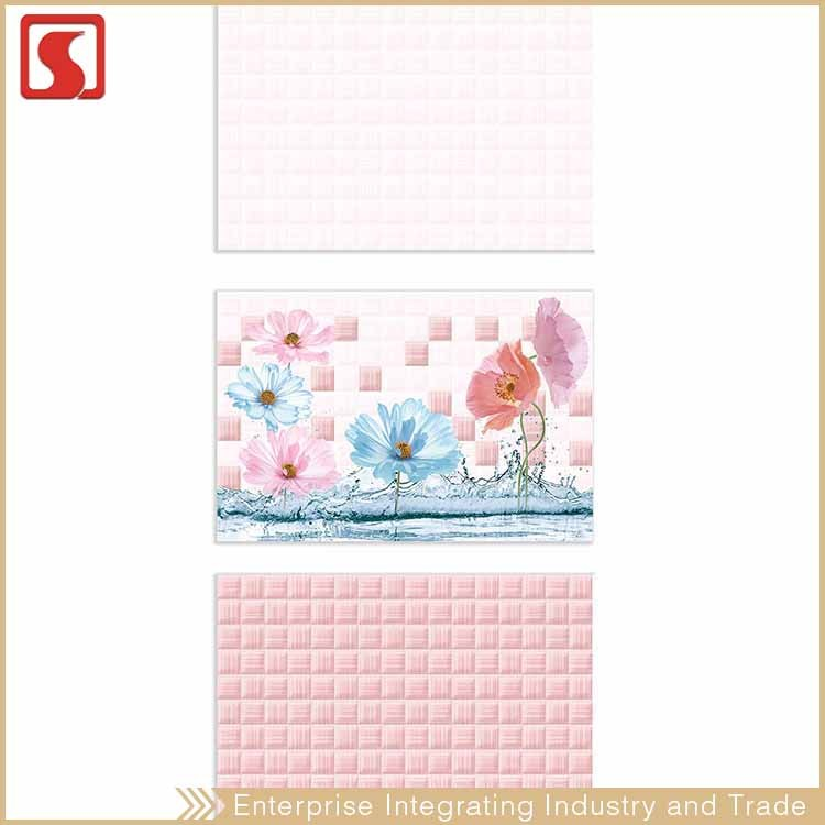 Drawing Beauty Flower 30X45 Child Room Mosaic Wall Tile