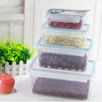 High selling 0.55 liter plastic cereal container small storage baskets with lids lunchboxes for kids portable storage box