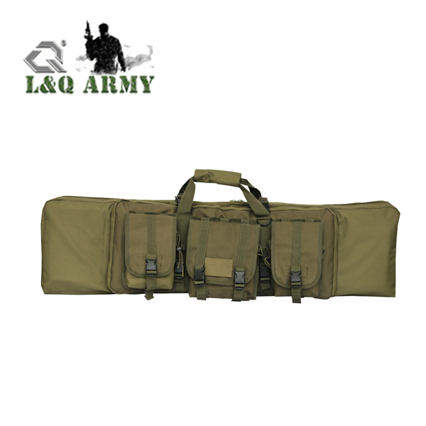 Tactical Single Rifle Case 42 inch Gun Bag with Two Modular Mag Pouches