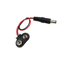 Experimental 9V battery snap power cable to DC 9V clip male line battery adapter for uno r3