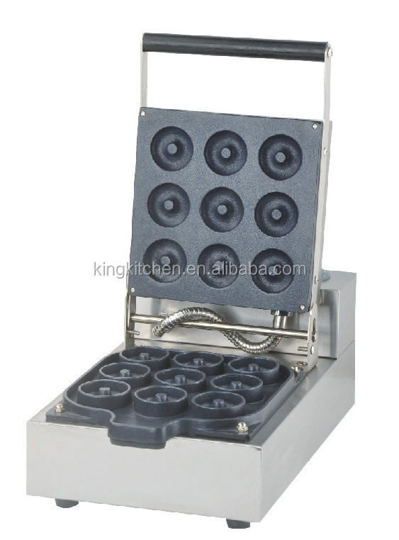 Commerical Electric Automatic Donut Waffle Machine / Baking Donut Equipment For Catering / Syrup Donut Waffle Maker
