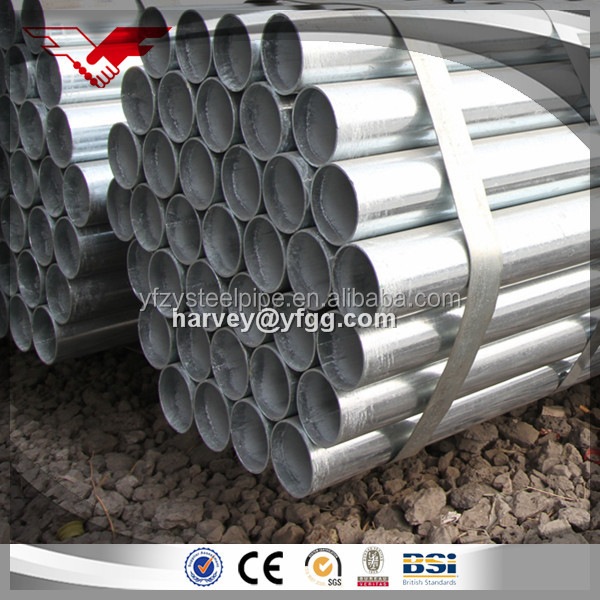 DN15 DN200 steel pipe galvanized for water project