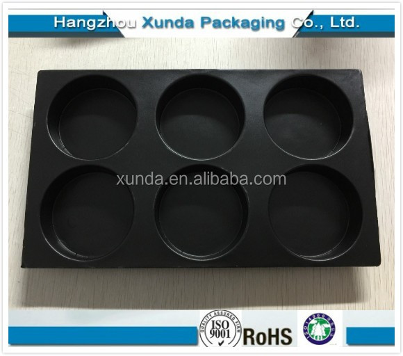 High quality Popular Plastic blister 6 cavity cupcakes tray
