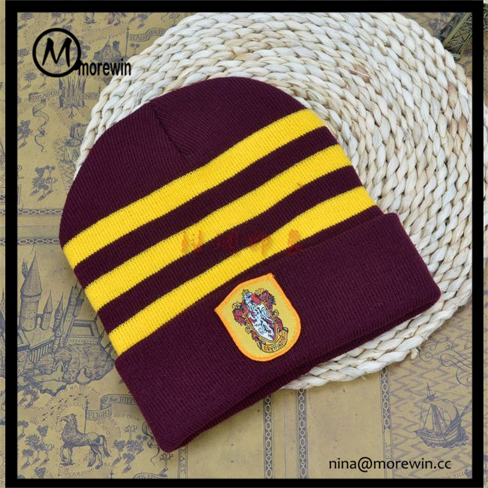 Morewin Brand Custom Harry Potter Embroidery Logo Beanie hats Wholesale Knitted Winter Hat For Women And Men