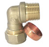High Quality Brass Compression Copper Male Thread 90 Degree Elbow Fitting