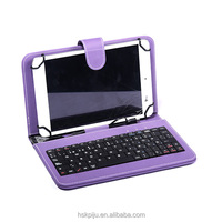 Bluetooth leather tablet case with keyboard for ipad