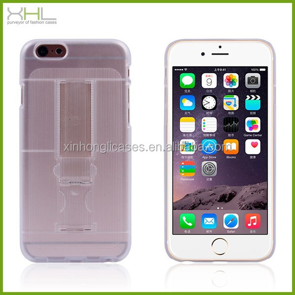 Hard plastic armor kickstand case for iphone 6 , case with card slot for iphone 6 plus
