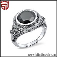 Top Quality New Coming 925 Sterling Silver Rings With Garnet