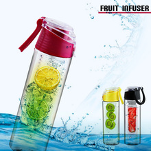 2015 factory provide directly New design 750ml BPA FREE fruit infuser water bottle with filter