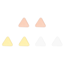 Newest Design Minimalist Silver/Gold/Rose Gold Plated Brass Geometric Triangle Disc Tiny Stud Earrings