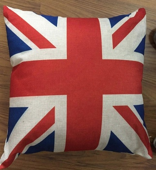 polyester digital printed UK flagcushion cover