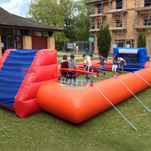 Cheap price good inflatable sports arena human foosball game for adult and kids
