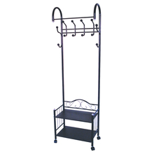 Wrought Iron Standing Clothes Rack Retail Custom Clothing Racks