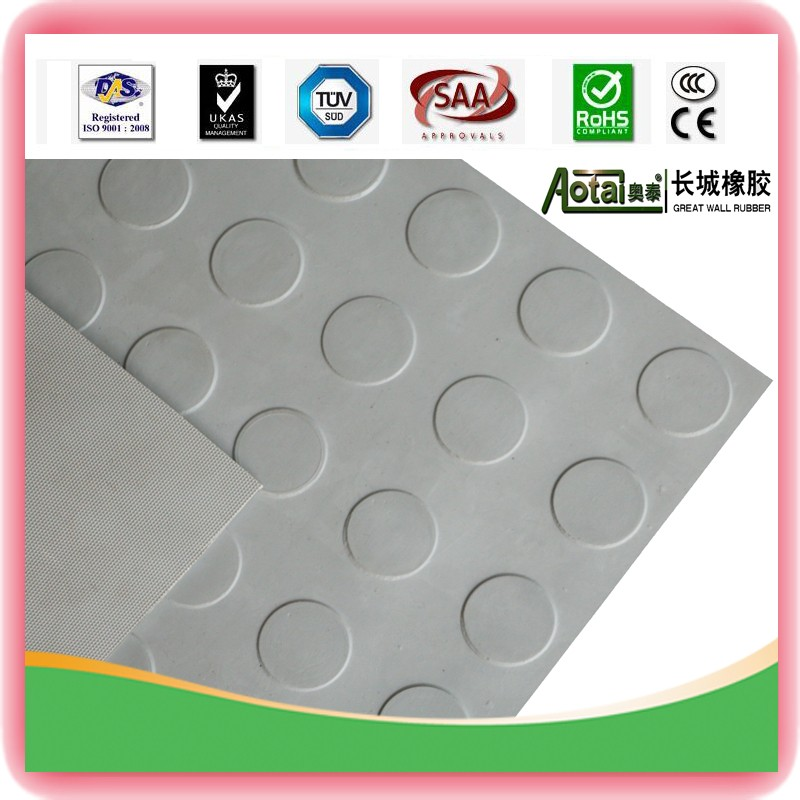 Factory sale various Widely Used Great Wall Round Button Rubber Mat With Anti-slip Flooring
