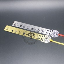 metal wedding favor wholesale custom logo metal ruler bookmark