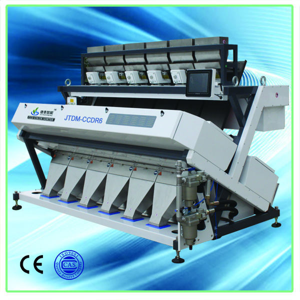 2014 new products special industrial lenses 6 chutes Led light color sorter machine