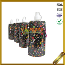 Bespoke newly stand up plastic spout water cooled bottle pouch bag for liquid put in pocket bike