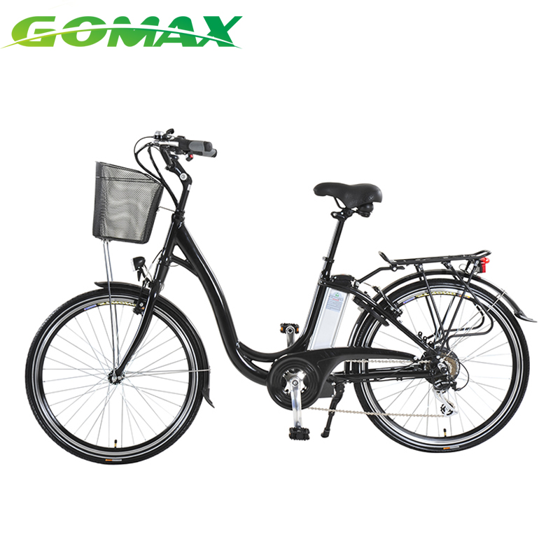 Light Front and Rear LED light women's city motorised electric bicycle