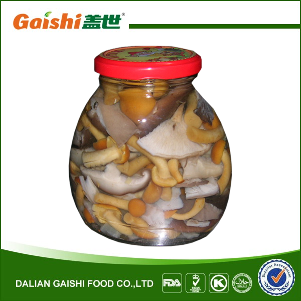 canned salted mixed mushroom in brine