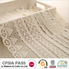New products cotton white bridal embroidery crocheted lace