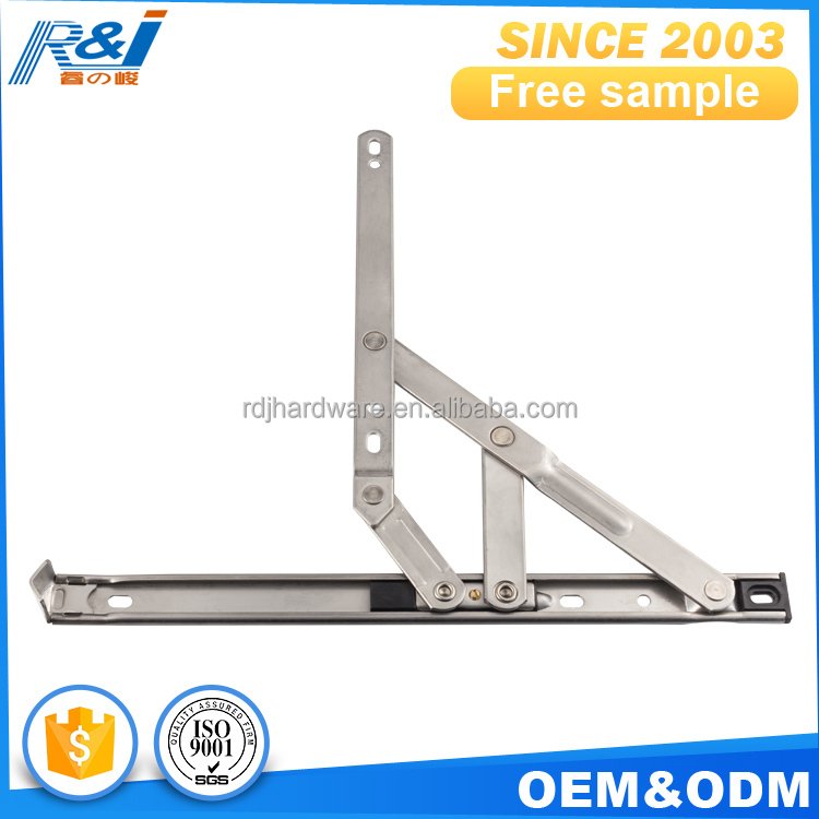 Custom made free sample MOQ=100pcs square groove aluminum window friction stay hinge