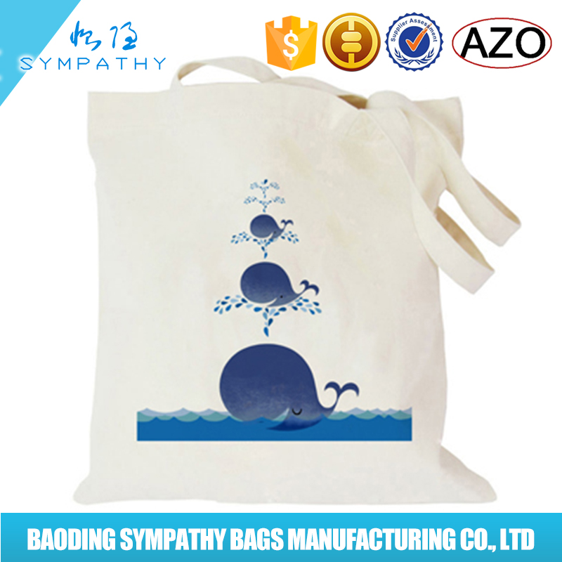 Sublimation digital heat transfer print heavy duty cotton canvas shopping tote bag