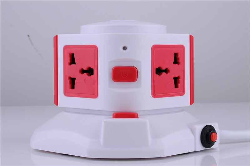 Universal Outlet - 2 USB port charger power strip surge protector for iPad Air Mini iPhone 5S 5C 4S