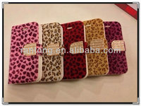 MAGNETIC DIAMOND WALLET LEATHER FLIP CASE COVER FOR IPHONE 4G 4S 5G 5S S3 S4