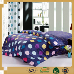 Deep color bed sheet polka dot with all sorts of color bed sheet set luxury bedroom set