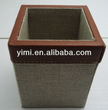 Pen holder/linen pen holder,suitable for your hotel and office,vintage and elegant