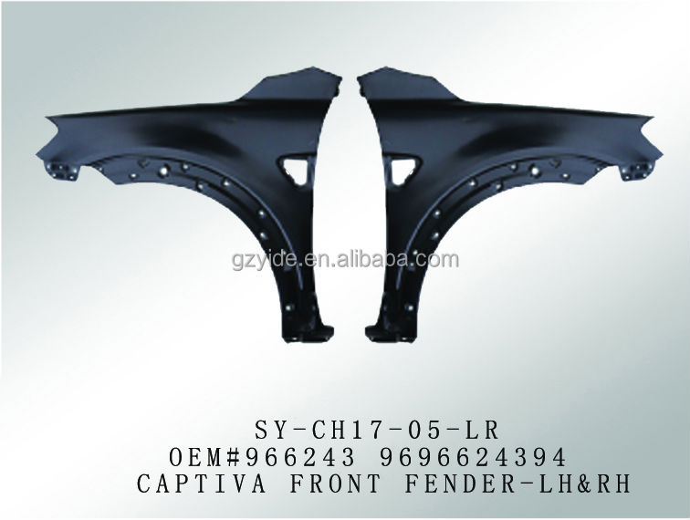latest hot selling front fender for auto parts chevrolet captiva