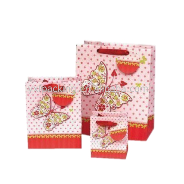 Red fancy paper gift bags